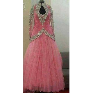 Prominent Pink Handwork Anarkali Salwar Kameez