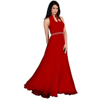 59b0bd9abac0 Buy Western Red colour Gown Online   ₹1700 from ShopClues