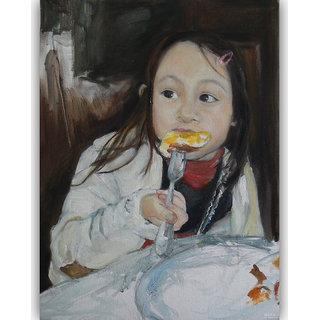Vitalwalls - Portrait PaintingCanvas Art Print.Oriental-059-60