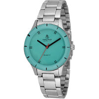 Ferry Rozer Green Dial Round Shape Analog Watch For Wom