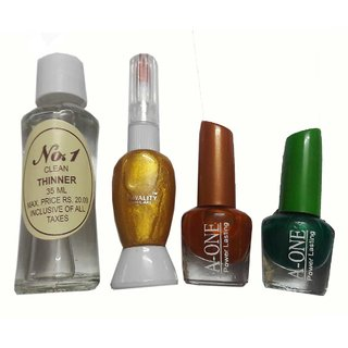 Kwality Combo of Nail Polish,  Nail Art,  (Free Nail Paint Remover)