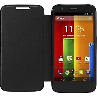 buy online e0840 887fa Flip Cover Hard Back Case For Motorola Moto G3 (3rd Gen) BLACK