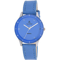 Ferry Rozer Blue Dial Leather Belt Analog Watch For Wom