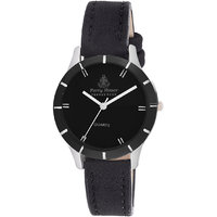 Ferry Rozer Black Dial Leather Belt Analog Watch For Wo