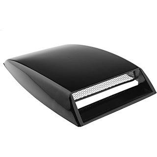 Universal Car Black Air Flow Intake Grill Mesh Vent Turbo Bonnet Scoop