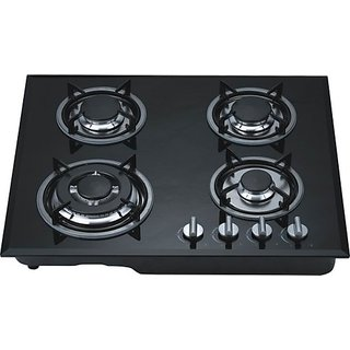 Online Gas Stove Hobs 4 Burner Glass Cook Top Gas Stove