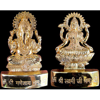 Ganesh Laxmi Gold Plated Idol