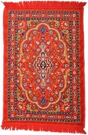 Dhruv Polyester Carpet - Red