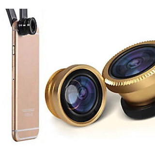 3 In 1 Universal Clip Mobile Phone Lens,--- Fish Eye + Macro + Wide Angle