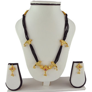 Womens Trendz Alloy Mangalsutra and Earrings Set