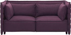 Afydecor Sofa with Shelter Arms in Plum