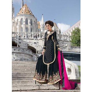 Thankar Beige Khadi Embroidered Salwar Suit Dress Material