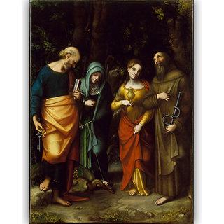 Vitalwalls Portrait Painting Canvas Art Print(Other-165-30)