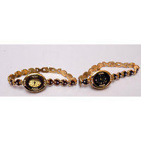 Beautiful Pair Watches Stone Studded Designer Bracelet
