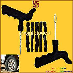 Car  Bike Tubeless Tyre Puncture Repair Kit and 5 Strip Plugs