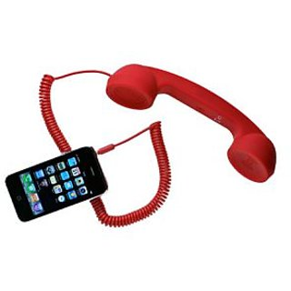 Portronics Phoni Retro Handset Red,Blue,Black,Grey