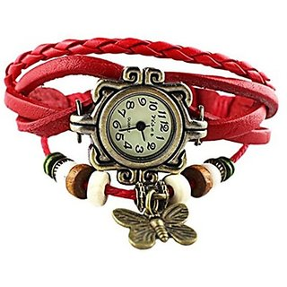 West Vintage Butterfly Analog Watch - For Girls, Women