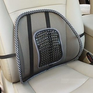 Car Seat Massage Chair Back Lumbar Support Mesh Ventilate Cushion Pad
