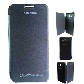 low priced 2705c 3793e SS Flip Cover for Samsung Galaxy Grand Prime - G530 (Black)