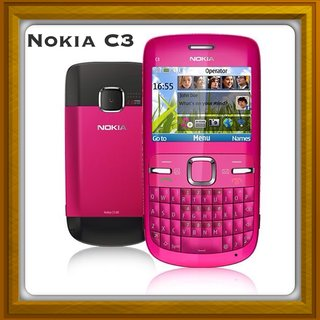 New Full Housing Body Panel For Nokia C3 - Pink.