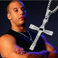 Fast and Furious Dominic Toretto Classic Male Rhinestone Pendant Necklace