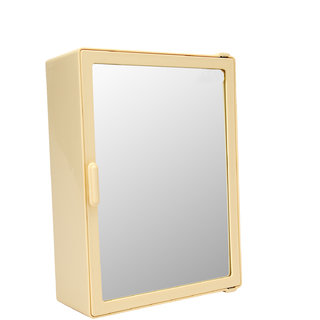 Zahab Sonata Single Door Plastic Cabinet- Cream
