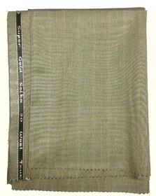 Ramkumar's Men's Suitings Poly Blend Shiny Grey Colour Pant Piece