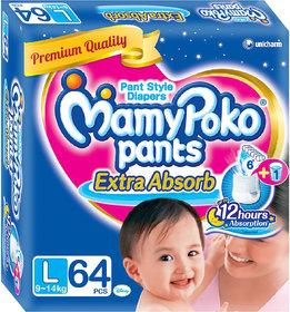 Mamy Poko Extra Absorb Pants Diaper (Large - 64 Pcs)