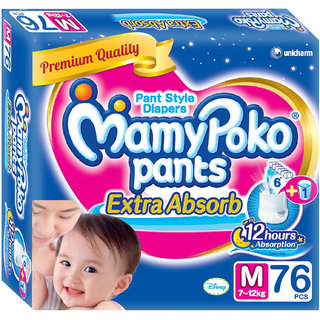 Mamy Poko Extra Absorb Pants Diaper (Medium - 76 Pcs)