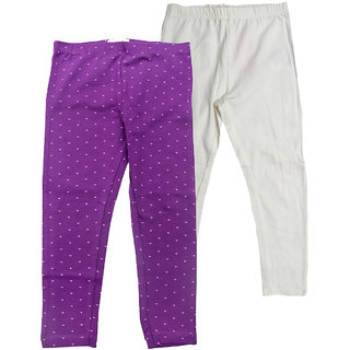 Juscubs Leggings Purple-Off White