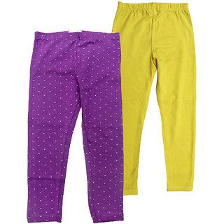 Juscubs Leggings Purple-Yellow