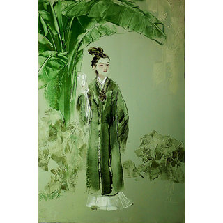 Vitalwalls Portrait Canvas Art Print On Pure Wooden Frame (Oriental-253-F-60)