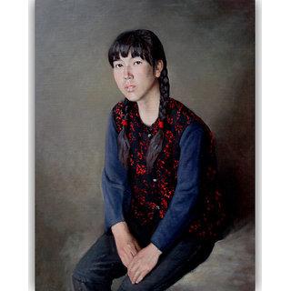Vitalwalls Portrait Canvas Art Print (Oriental-256-60)
