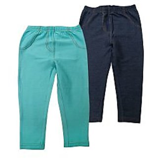 Juscubs Knit Denim Jeggings Aqua-Navy