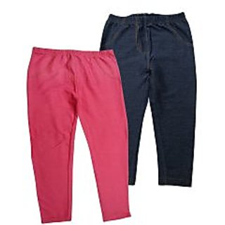 Juscubs Knit Denim Jeggings Pink-Navy