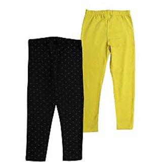 Juscubs Leggings Blk-Yellow
