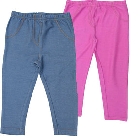 Juscubs Knit Denim Jeggings Blue-Pink