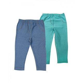 Juscubs Knit Denim Jeggings Blue-Aqua
