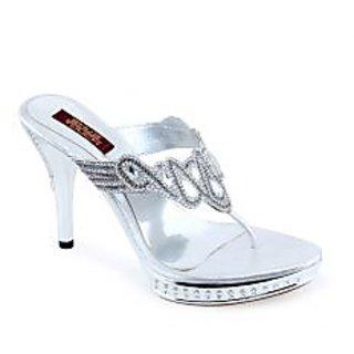 Shuz Touc Women's Silver Sandals