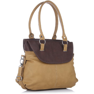 Fostelo Fashion Doubleflap Beige Handbag