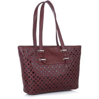 Fostelo Melisa Lasercut Maroon Handbag