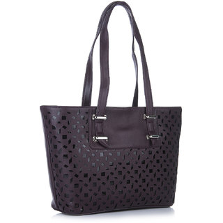 Fostelo Melisa Lasercut Purple Handbag
