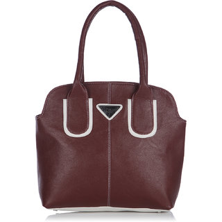 Fostelo Pebble Medium Maroon Handbag
