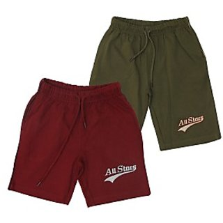Juscubs All Stars Shorts Maroon-Olivegreen