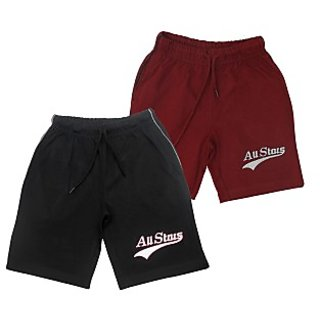 Juscubs All Stars Shorts Black-Maroon