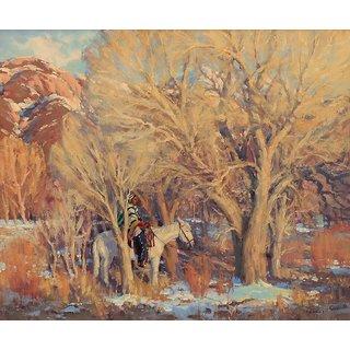 Vitalwalls Landscape Painting Canvas Art Print (Landscape-546-30Cm)