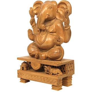 Ganesh Sandalwood Statue