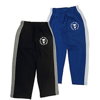Juscubs Champion Of All Sports Trackpants Black-Royalblue