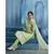 Sanskruti 10090 Ornate Semi-Stitched Salwar Suit (Pale Green  white)