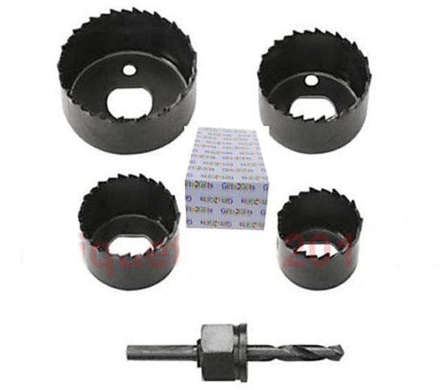 Buy 6 PCS CARBON HOLE SAW SET CUTTING WOOD, PLYWOOD WALLBOARD UP TO